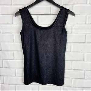 WHBM black sparkle tank women's layering small S